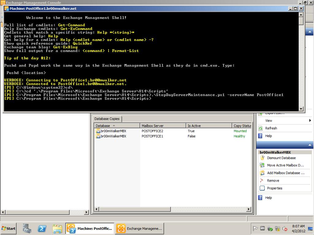 Upgrade an Exchange 2010 DAG to SP2 – doOdzZZ\'sNotes