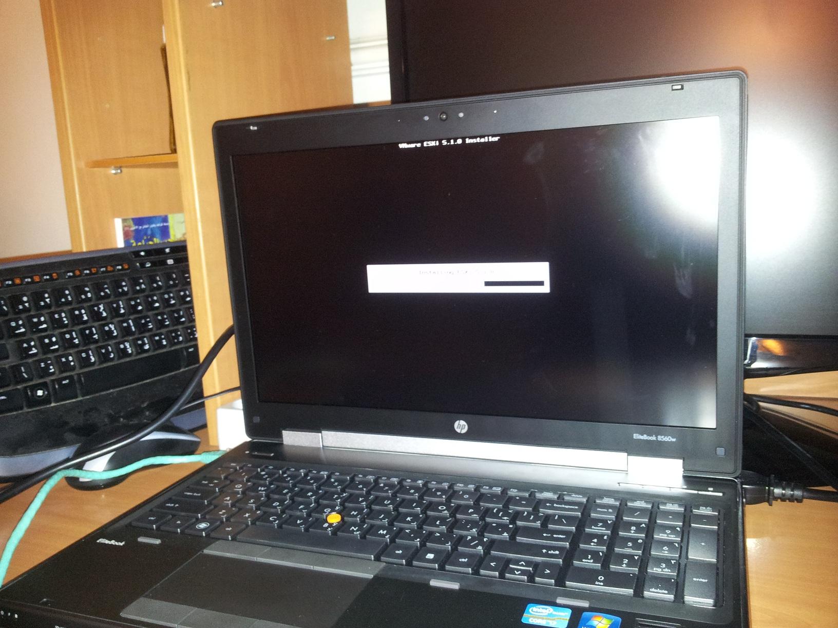 Install ESXi 5 x on HP EliteBook 8560w Workstation – doOdzZZ