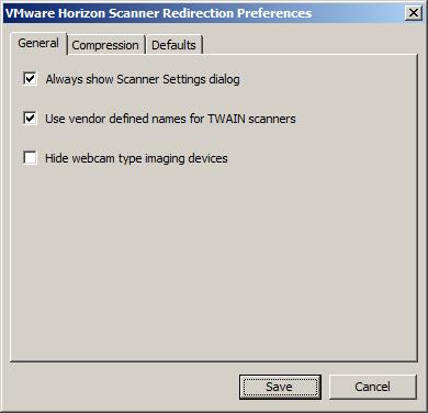 VMware Horizon View Scanner Redirection: No Scanner Found